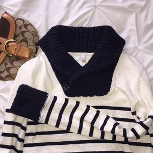 💥 3/$25 J Crew Striped Chunky Sweater Sz XXS   E7
